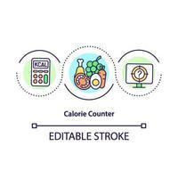 calorieteller concept pictogram vector