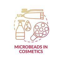 microbeads in cosmetica concept pictogram