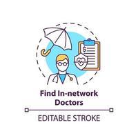 vind in-netwerk artsen concept pictogram vector