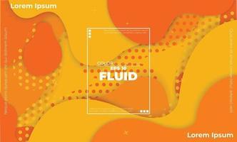 oranje elementen met vloeiend verloop, dynamisch stijlbannerontwerp van fruitconcept. geschikt voor poster, web, bestemmingspagina, omslag toevoegen, wenskaartpromotie, sociale media vector