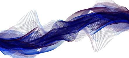 moderne digitale geluidsgolf op ultraviolette achtergrond vector