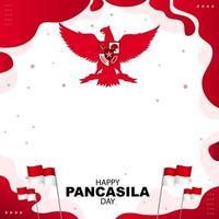 gelukkige pancasila-dagachtergrond vector