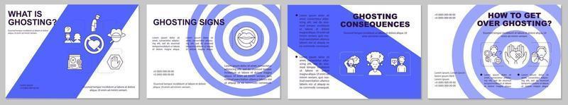 wat is ghosting brochuremalplaatje vector