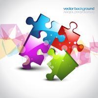 kleurrijke puzzel eps10 vectorillustraties vector
