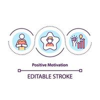 positieve motivatie concept pictogram