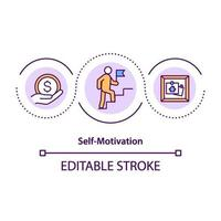 zelfmotivatie concept pictogram