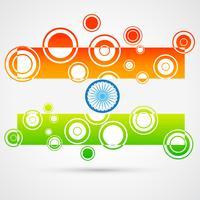 creatieve Indiase vlag vector