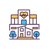 ziekenhuisgebouw RGB-kleur pictogram