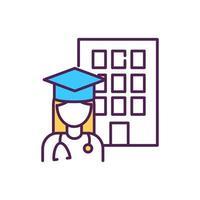 medische student RGB-kleur pictogram
