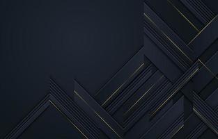 straten als geometrisch in zwart met gele lijnen vector