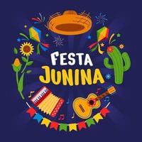 festa junina viering achtergrond vector