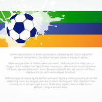 stijlvol voetbalontwerp vector