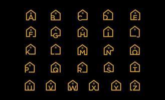 eerste huis concept logo ontwerp vector