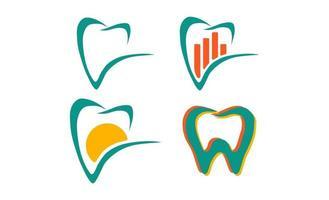 tandheelkundige tand gezondheid bedrijfslogo sjabloon vector illustratie pictogram element