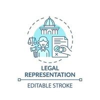 juridische vertegenwoordiging concept pictogram vector