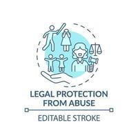 juridische bescherming tegen misbruik concept pictogram vector