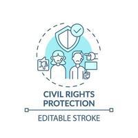 bescherming van de burgerrechten concept pictogram