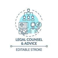 juridisch advies en advies concept pictogram vector