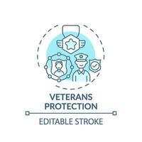 veteranen bescherming concept pictogram vector