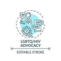 lgbtq en hiv belangenbehartiging concept pictogram vector