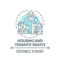 huisvesting en huurdersrechten concept pictogram vector