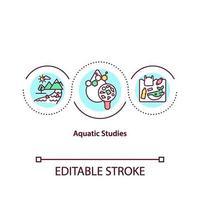 aquatische studies concept pictogram