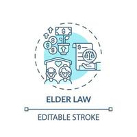oudere wet concept pictogram