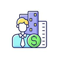 Office Broker RGB-kleur pictogram