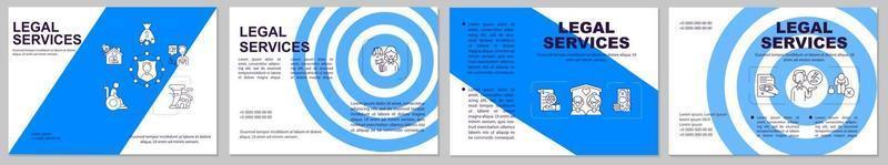 brochure sjabloon voor juridische diensten