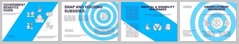 brochure sjabloon voor voordelen van de overheid