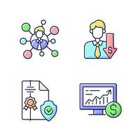 makelaardij service rgb kleur iconen set