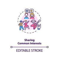 gemeenschappelijke belangen delen met het pictogram van het partnerconcept.