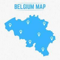 eenvoudige kaart van belgië met kaartpictogrammen vector
