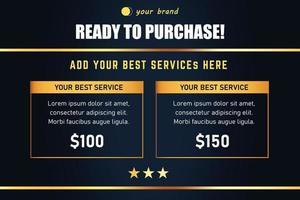 sjabloon voor spandoek van serviceprijsplan