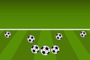 voetballen op veld illustratie vector