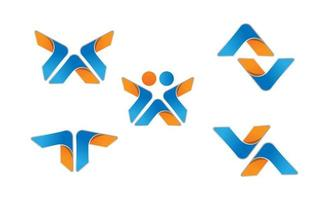 eerste creatieve minimale av logo pictogram ontwerp vectorillustratie