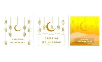 moslim dag achtergrond sjabloon vector illustratie behang - vector