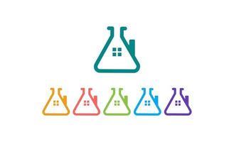 home lab logo sjabloon vectorillustratie