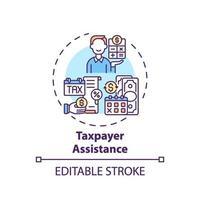belastingbetaler bijstand concept pictogram vector