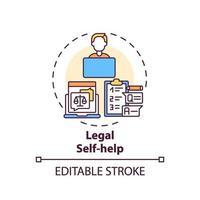 juridische zelfhulp concept pictogram vector