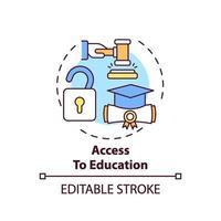 toegang tot het pictogram van het concept van het onderwijs vector