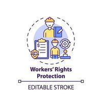 werknemers rechten bescherming concept pictogram vector