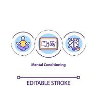 mentale conditionering concept pictogram