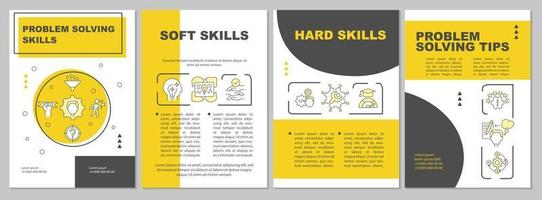 probleemoplossende tips brochure sjabloon