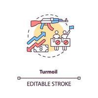 onrust concept pictogram