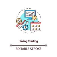 swing trading concept pictogram vector