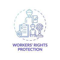 werknemers rechten bescherming concept pictogram