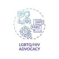 lgbtq en hiv belangenbehartiging concept pictogram