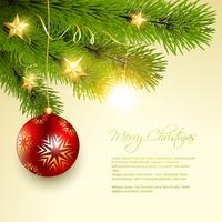 Kerst achtergrond boom vector