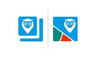 boek uil concept logo ontwerp vector